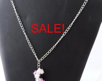 SALE! Spiky flowers necklace