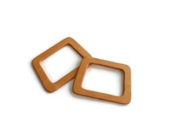 1 pair of wood bag handles honey color (12cmx17cm) - WH32