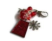 Red Bag Charm - Red Purse Charm - Glitter Bag Charm - Budget Gift Ideas - Gifts for Friends - Bridesmaids Gifts - Stocking Fillers