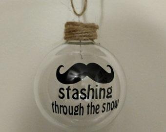 Stashing Through the Snow Ornament