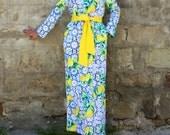 Blue dress, Yellow dress, Column dress, Maxi dress, Plus size dress, Dress with pockets, Elegant dress, Party dress, Long dress