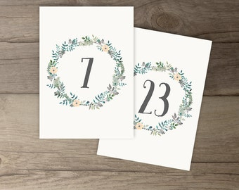 Woodsy Wedding Save the Date Postcard • Winter Leafy Wreath • Floral Leaves Invitations • DIY Printable
