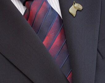 Bull Terrier - brooch - gold