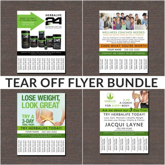 herbalife tear off flyer bundle by wackyjacquisdesigns on etsy. Black Bedroom Furniture Sets. Home Design Ideas
