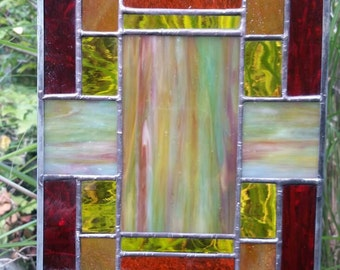 Stained Glass Multicolor Panel E107