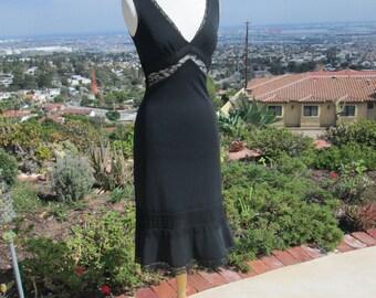 """Pretty Feminine 1990's Little Black Dress  """"Thriller"""""""
