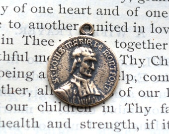St. Louise de Monfort - Totus Tuus Maria-To Jesus Through Mary - Bronze or Sterling Silver - Vintage Replica - Marian Consecration (CD-305)