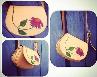 Small  Handtooled Leather Handbag