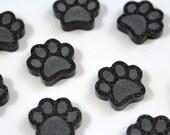 Laser Cut Supplies-8 Pieces. Little Dog Print Charm-Laser Cut Acrylic Shape -Little Laser Lab.Online Laser Cutting Australia