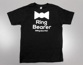Ring Security Shirt. Bling Security Ring Bearer Shirt. Ring Bearer Wedding T-Shirt. Childrens Kids Ring Bearer Shirt. Ring Bearer T-Shirt.