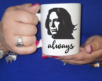 "Snape ""Always"" Ceramic Coffee Mug -  Ceramic Coffee Mug - Harry Potter Coffee Mug - Coffee Cup - Harry Potter Coffee Cup  - Patronus Mug"