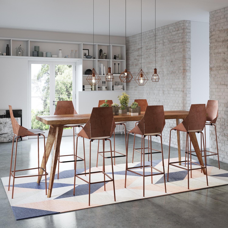 Rustic Modern Kitchen Table: Flash Sale Modern Rustic Urban Mid Century Bar Bench Kitchen