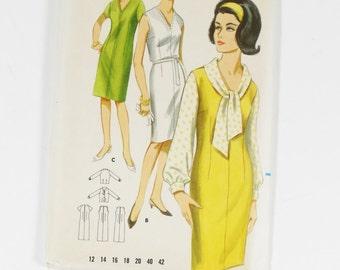 Butterick 3516 - Dress or Jumper and Blouse - Vintage 1960s Pattern - Size 18 - UNCUT