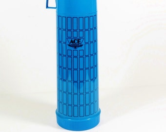 Vintage Ace Hardware Blue Thermos- 4 cup/1 Liter