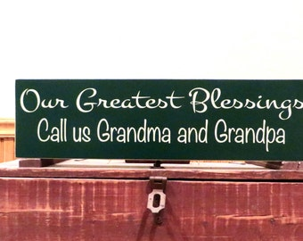 Grandparent Sign Nana Sign Grandparent Gift Mothers Day