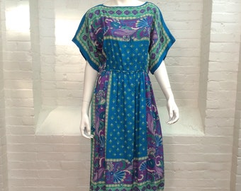 vintage silk dress // summer dress // women's size medium