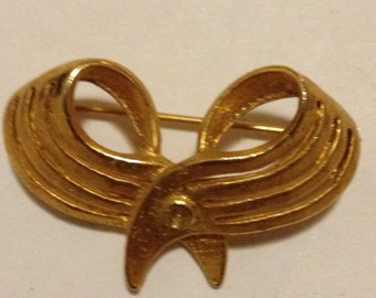 Bow-shaped Vintage Metal(Gold) Brooch