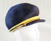 Vintage Blue Nautical Fashion Hat