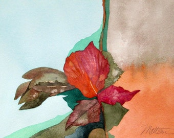 """SALE     Fall Series  """" A Kind of Rhapsody""""  Original, One of a Kind Watercolor"""
