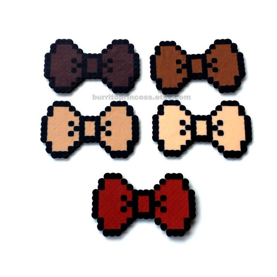 8 Bit Bows 8 Bit Hair Bows 8 Bit Bow Ties Pixel Bows