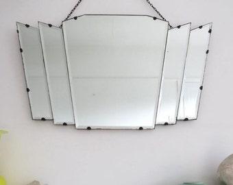 Vintage Art Deco Mirror Fan Shape
