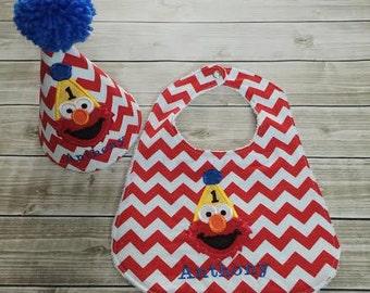 Elmo Personalized Party Hat & Bib