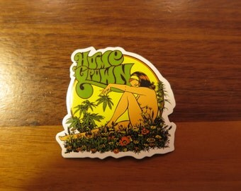 Home Grown Sticker, 100% Waterproof Vinyl Sticker, Pop Culture Sticker