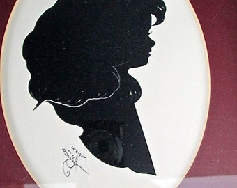 Best Price Sale Framed Silhouette of a Young Girl