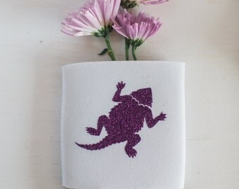 Glitter Frog Can Cooler