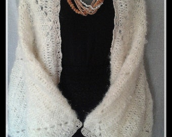 Shrug, crocheted, handmade,