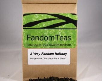 A Very Fandom Holiday - Peppermint Chocolate Black Tea Blend