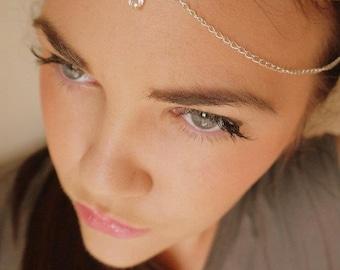 Grecian style headchain Jewel Headdress Headband Headcrown blackthorn Bridal