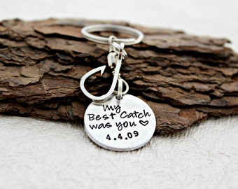 My Best Catch Keychain - Fisherman Gift - Anniversary Gift - Fishing Keychain - I love you Keychain - Gift for Him - Husband Gift - Groom