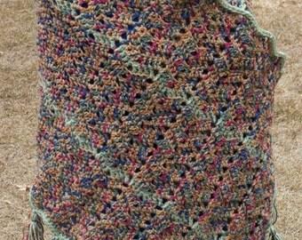 Prayer Shawl Misty Frost Hand-Crocheted, Sale, Prayer Bolero, Prayer Wrap, Bolero, Shrug, Wrap