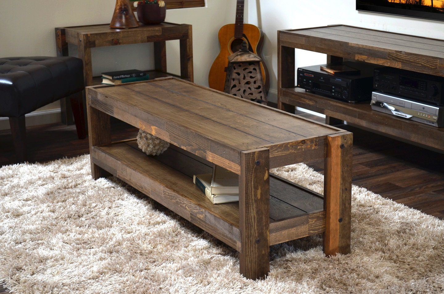 Reclaimed Coffee Table Pallet Wood Barn Wood Style