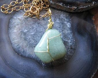 Jade Rock Necklace-24in