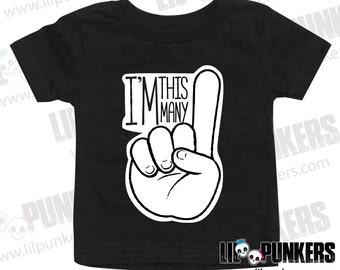 I'm this Many 1st Birthday Shirt - First Birthday T-Shirt