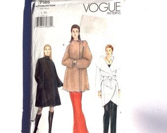 Vogue 7185, Women's Coat Pattern, Coat and Sash Pattern, Size L - XL, Uncut Pattern