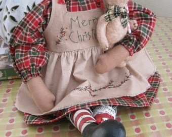 Christmas Annie and Duffy, too - Handcrafted for Holiday Cheer - Christmas Decor