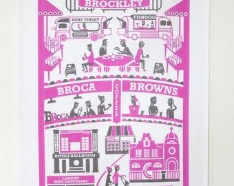 Brockley tea towel