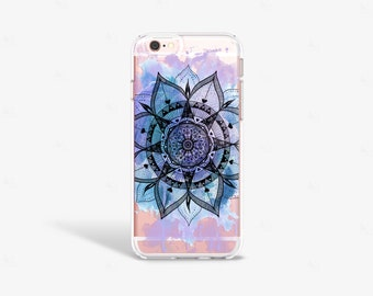 Purple iPhone 7 Case Clear Lilac iPhone 7 Plus Case Bohemian iPhone 6 Case iPhone 6s Case Blue Samsung Galaxy S7 Edge Case Clear