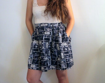 Star Wars pleated skirt with pockets