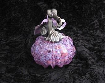 Small Magical Purple Hand Blown Glass Pumpkin W281