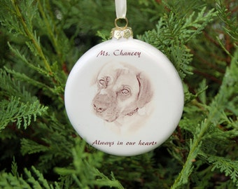Pet Photo Ornament, 4 inch Round Ornament with Your Photo, Custom Photo Ornament, Christmas Photo ornament, picture ornament, Pet Memorial