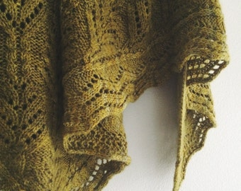 FOREST GREEN Shawl Knitting pattern