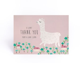 A giant thank you from a giant llama