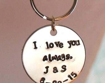 From bride to groom gift, wedding day gift to groom, I love you always, wedding keepsake, fiance gift, husband gift