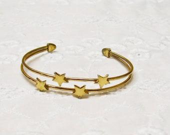 Star Guide Cuff Bracelet Vintage 1970s