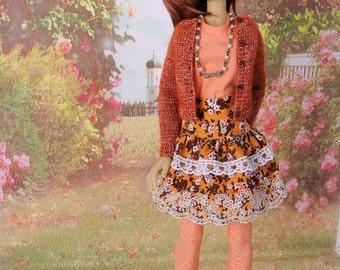 Romantic outfit for SD Kaye Wiggs girls such as  Tobi or similiar sized dolls