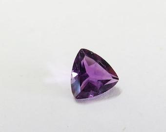 Natural Purple Violet African Amethyst Gemstone, 7mm Trillion Amethyst, 7mm Purple Amethyst, Loose 7mm gemstone, Purple Amethyst Trillion